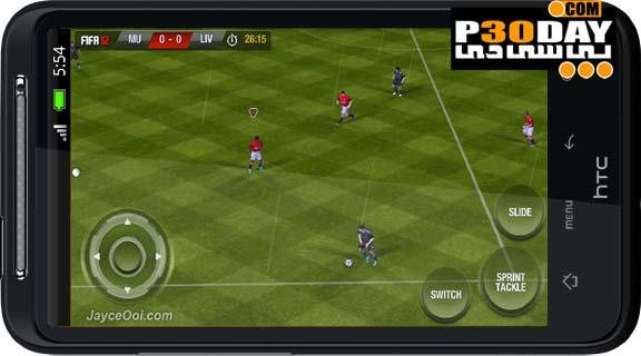 دانلود بازی فوق العاده زیبا و معروف FiFa 12 آندروید