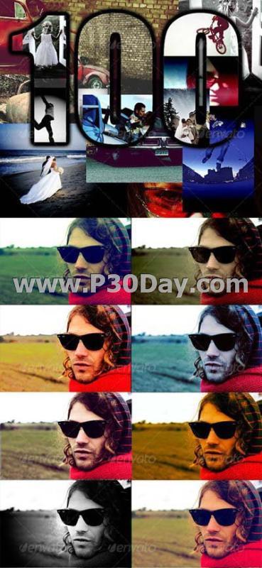 دانلود 100 اکشن آماده برای فتوشاپ 100 Photos Action