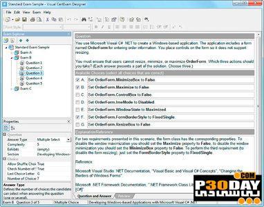 برنامه طراحی آزمون های چند رسانه ای Visual CertExam Suite 2.8.1