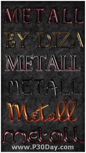 دانلود استایل های بسیار زیبای فلزی Color Metal Styles for Photoshop