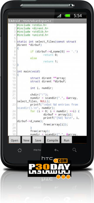 دانلود نرم افزار اجرای C و ++C در گوشی C4droid v3.23 آندروید