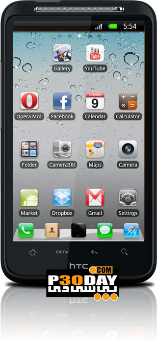 تم فوق العاده زیبا و با کیفیت GO Launcher EX iPhone Style v1.0 آندروید