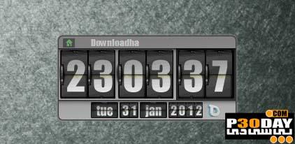 دانلود گدجت جدید و بسیار زیبای ساعت دیجیتالی Flip Clock