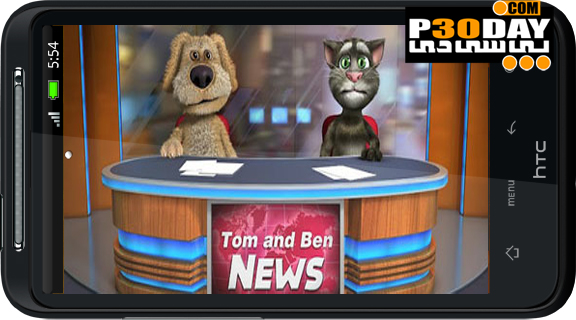 دانلود نرم افزار بسیار جالب و زیبای Talking Tom & Ben News v1.0 آندروید