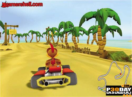 دانلود بازی Crazy Chicken Kart Thunder 2008