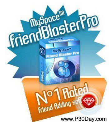 نرم افزار ارسال درخواست دوستی در مای اسپیس MySpace FriendBlasterPro 12.1
