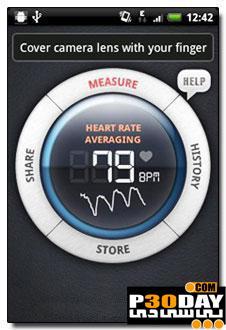اندازه گیری ضربان قلب در موبایل آندروید Instant Heart Rate Pro v2.0.5