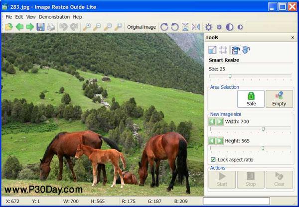 نرم افزار تغییر سایز ساده و سریع عکس Image Resize Guide Lite 2.2.9