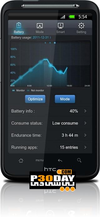 مدیریت حرفه ای مصرف باتری موبایل آندروید GO Power Master v1.1 Final