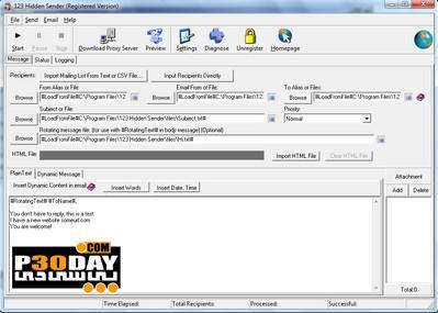 دانلود برنامه ارسال ایمیلهای ناشناس 123 Hidden Sender v5.27