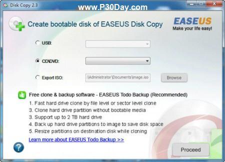 نرم افزار کپی کردن دقیق اطلاعات بین درایو هارد EASEUS Disk Copy 2.3.1