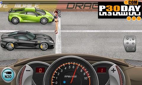 بازی جذاب کورس گذاشتن اتومبیل ها برای آندروید Drag Racing 1.0.18