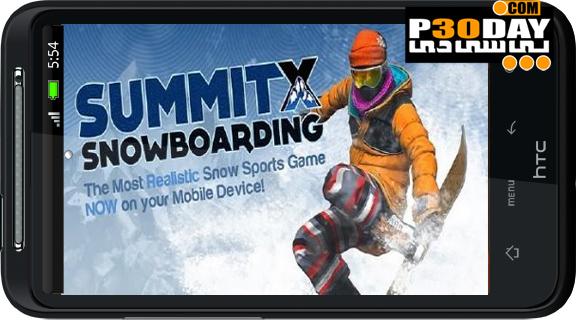 دانلود بازی بسیار جذاب و زیبای SummitX Snowboarding آندروید