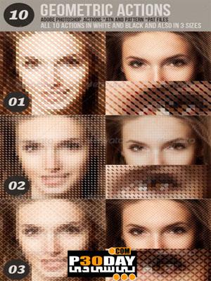 دانلود اکشن بسیار زیبا و حرفه ای Geometric Photo Actions فتوشاپ