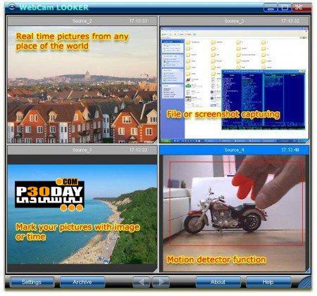 دانلود برنامه تبدیل وبکم به دوربین مدار بسته WebCam Looker 6.2