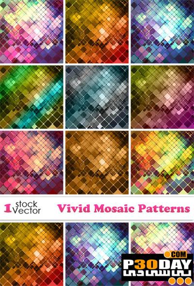 دانلود مجموعه پترن های بسیار زیبا و شیک Vivid Mosaic Patterns
