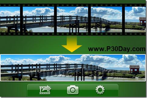 تبدیل ویدیو فیلمبرداری به عکس پانوراما در آیفون Videopano 1.3