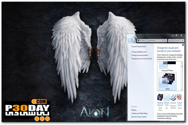 دانلود تم شیک و بسیار زیبای AION Theme برای ویندوز 7