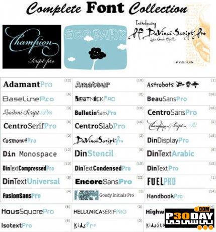 دانلود مجموعه فونت های انگلیسی Complete Fonts Collection Full