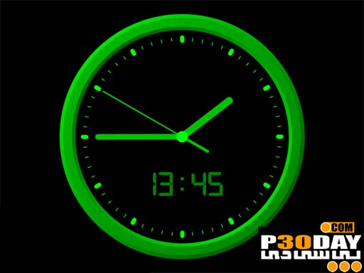 دانلود اسکرین سیور فوق العاده زیبای ساعت Analog Clock 7 ScreenSaver