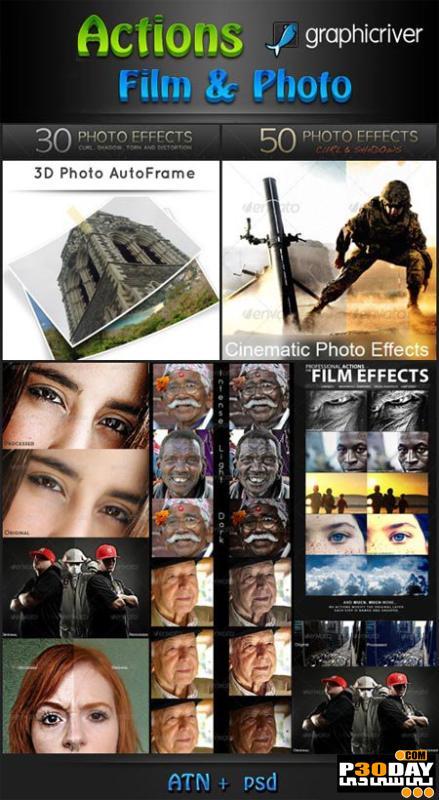 دانلود اکشن های بسیار زیبا و آماده فتوشاپ Actions Film & Photo