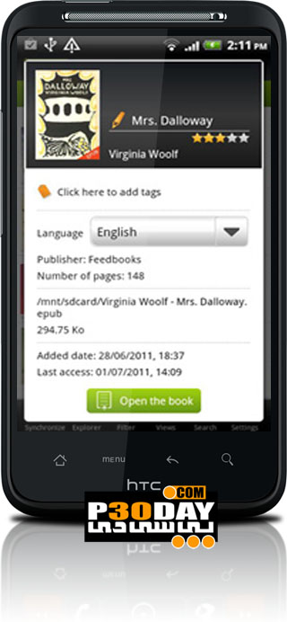 دانلود نرم افزار کار با کتاب الکترونیکی Mantano Reader v1.6.4 آندروید