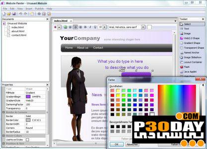 دانلود نرم افزار ساخت آسان صفحات وب Ambiera WebsitePainter v2.1.1