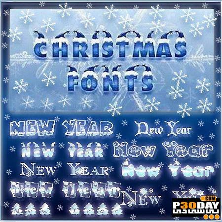 دانلود فونت های کریسمس Christmas and New Year Fonts