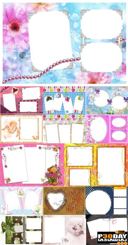 دانلود فریم آماده عکس Collection of Spring Photo frames pack 7