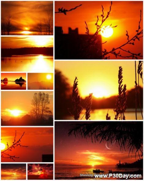 مجموعه بی نظیر 120 عکس پس زمینه والپیپر غروب خورشید با کیفیت Full HD