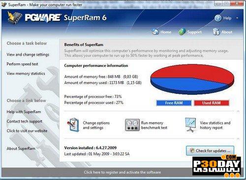 دانلود برنامه بهینه ساز رم و افزایش سرعت سیستم SuperRam 6.6.12.2011