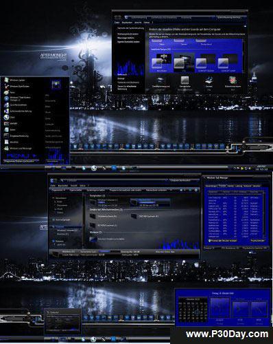تم جدید و بسیار حرفه ای ویندوز 7 – Windows 7 City Theme