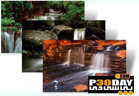 دانلود تم بسیار زیبا و شیک Waterfalls برای ویندوز 7