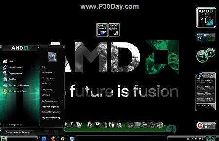 تم زیبای AMD برای ویندوز هفت AMD Windows 7 Theme