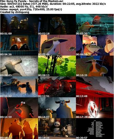 دانلود انیمیشن کوتاه Kung Fu Panda: Secrets of the Masters 2011