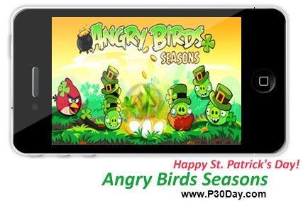 دانلود نسخه جدید بازی آیفون Angry Birds Happy St. Patrick's Day