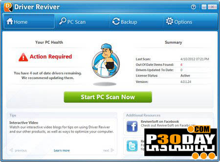 دانلود ReviverSoft Driver Reviver 5.34.3.2 - آپدیت درایورهای کامپیوتر