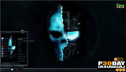 دانلود تم فوق العاده زیبا و شیک Ghost Darkness برای ویندوز 7