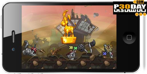 دانلود بازی فوق العاده جذاب و معروف Worms 2: Armageddon v1.09 آیفون