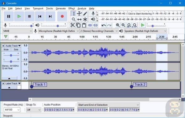 دانلود Audacity 2.3.1 - برنامه جداکردن و چسباندن MP3