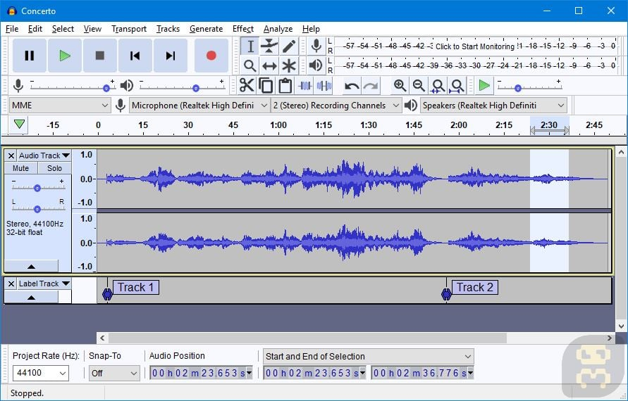 Audacity 2.3.3 RC02 - MP3 Extractor And Paste Program