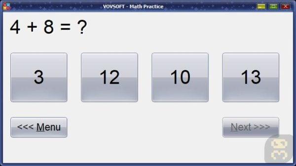 دانلود VovSoft Math Practice 3.0 - برنامه آموزش ریاضی به کودکان