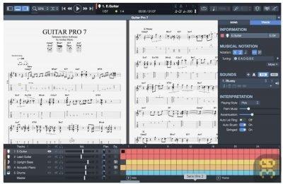 دانلود Guitar Pro 7.0.1.485 - دانلود نرم افزار گیتار برای کامپیوتر