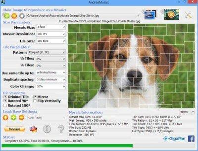 AndreaMosaic 3.36.0 – ساخت عکس های Moasic