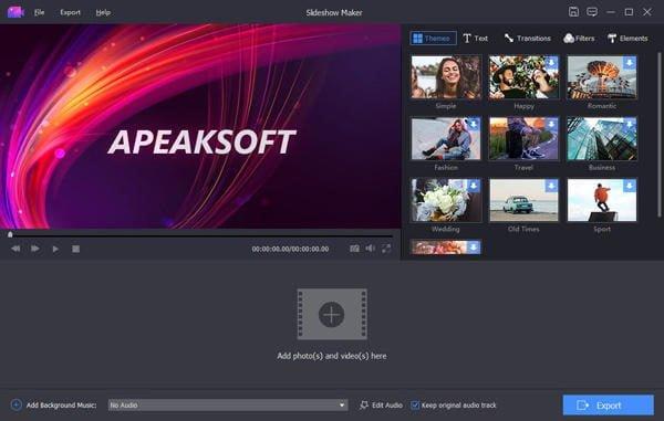 دانلود Apeaksoft Slideshow Maker 1.0.26 - نرم افزار ایجاد اسلاید برای عکس ها