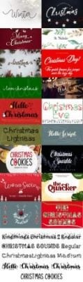دانلود Holiday Fonts Collection - فونت کریسمس فوق العاده زیبا