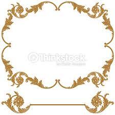دانلود Vintage vector set gold retro frame – حاشیه های آماده