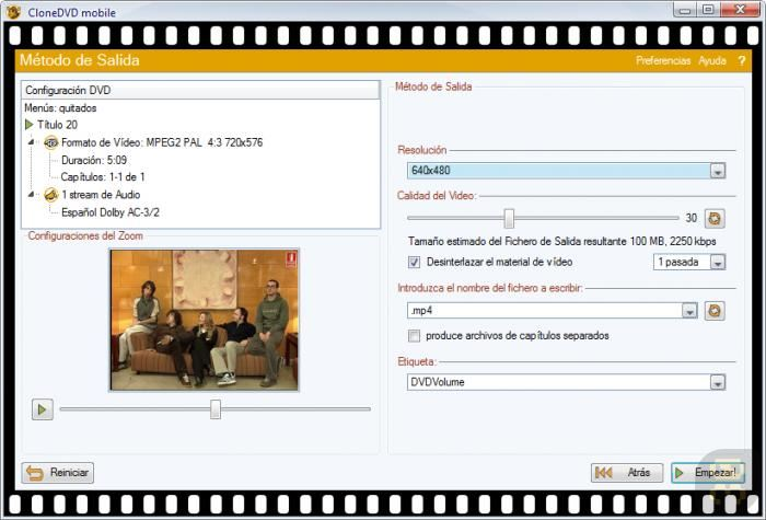 CloneDVD Mobile 1.9.5.0 - Convert Movie To Mobile Format