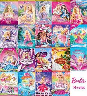 دانلود سری کامل انیمیشن و کارتون باربی Barbie Cartoon Collection
