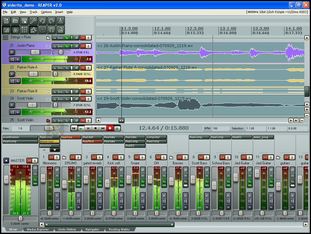 Cockos REAPER V5.99 - Audio File Editor&Mixer